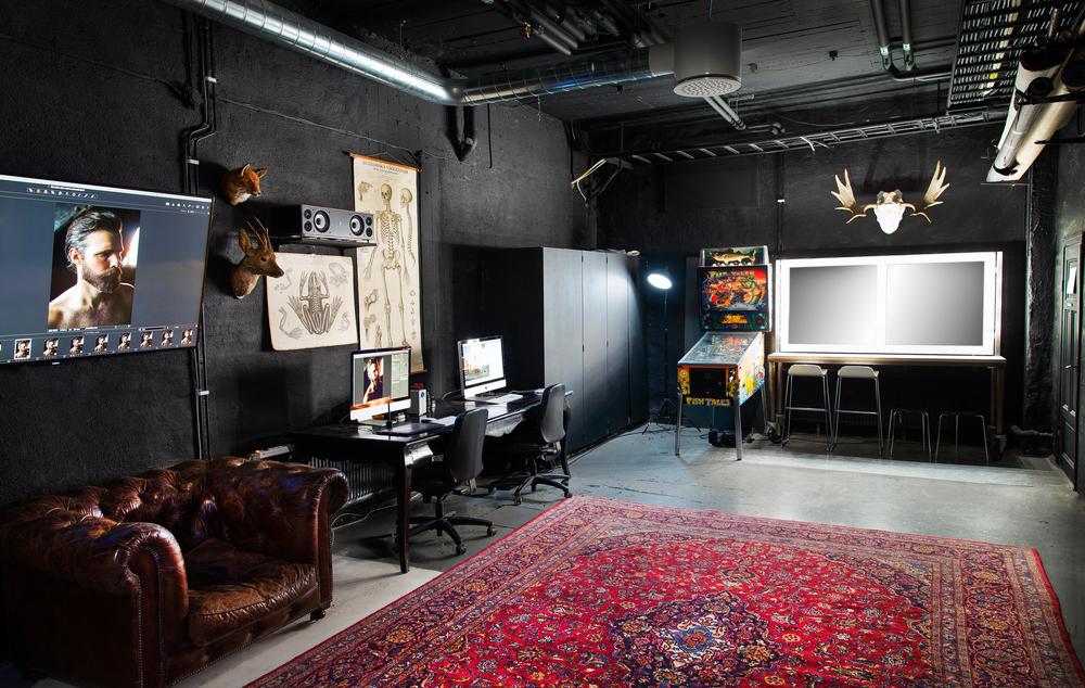 Studio med sminkspegel