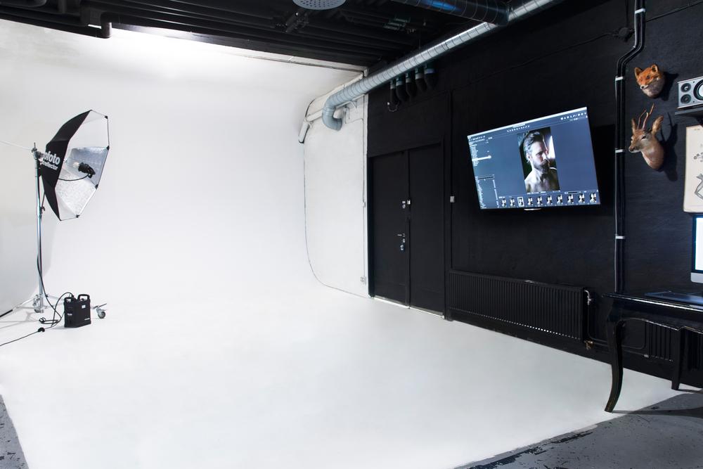 Studio med rundfond