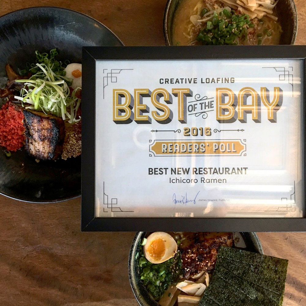 A big thanks to Creative Loafing for this amazing award! We are honored to be named Best New Restaurant! Thanks to all who voted for us and helped the Ramen Army bring it home this year, we are truly blessed.