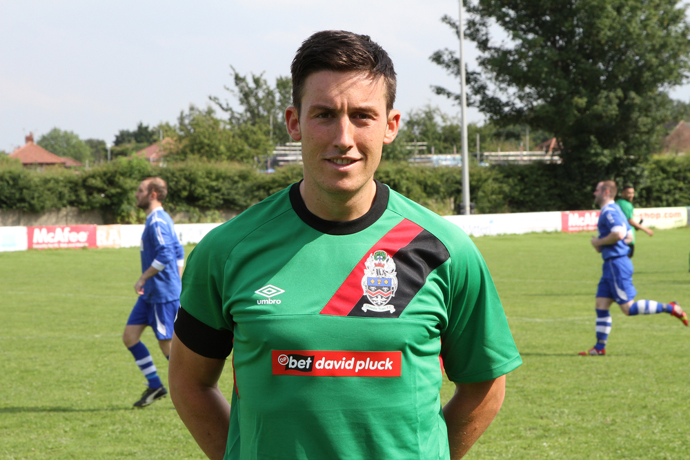 Team captain Anthony Trucca modelling the home shirt last weekend