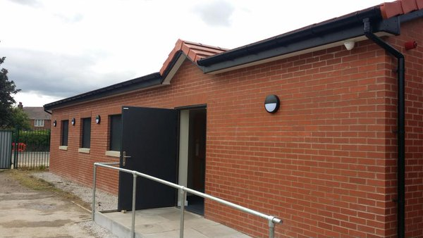 Irlam's new clubhouse - from the outside...