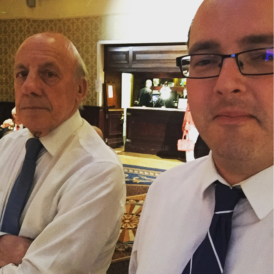 If you want a selfie with the chairman (on the left in the picture), you have to catch him somewhat unawares....