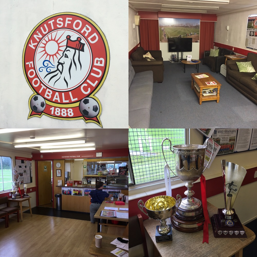 Knutsford FC's clubhouse - not at all bad if we say so ourselves