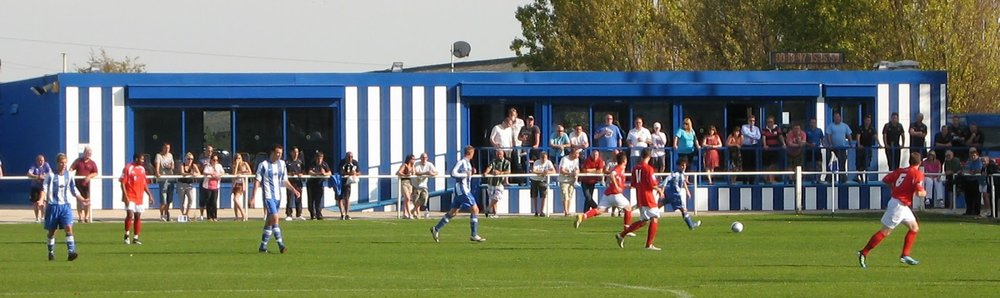 Staveley Miners Welfare FC clubhouse - we like it a lot (image: facupgroundhopper.blogspot.com)