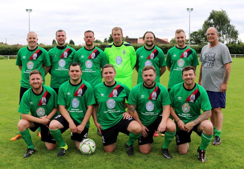 Trevor Howard's XI BACK: Adam Roberts, Clark, Dickin, Piggott, Brocklehurst, Jack, Trevor Howard (manager) FRONT: Ben Roberts, Lindon, Flanagan, Dan Brokenbrow, Woods