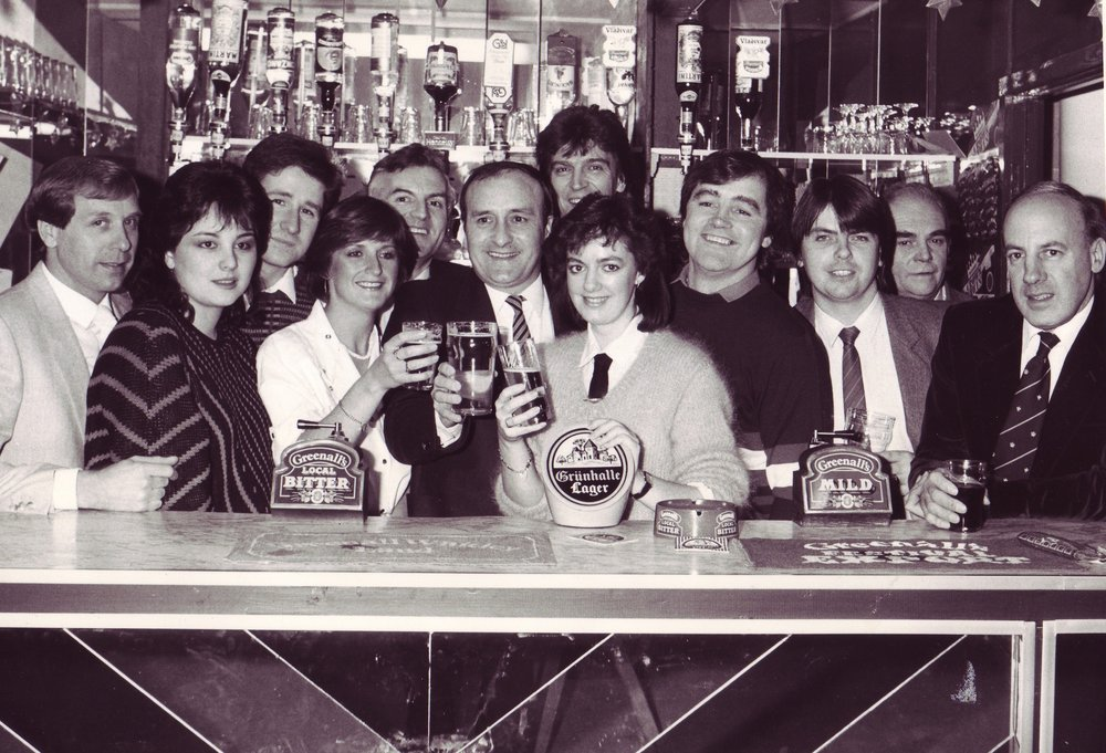 The opening of the bar, 1983.