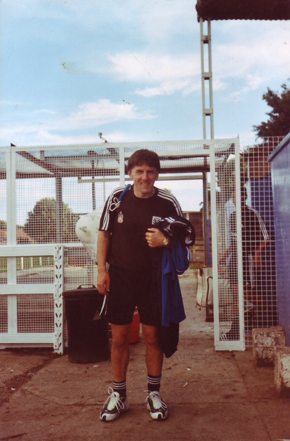 During the 1998-99 season when Fulham were in the third tier of English football they used Park Road as a training facility. Here's the familiar face of Peter Beardsley.