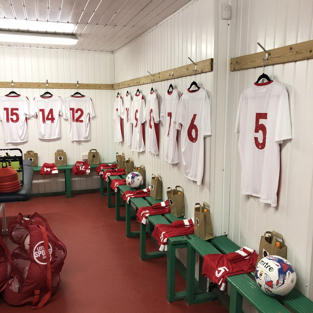 Our new-look home changing room.