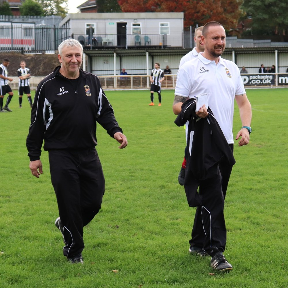 Mssrs Trucca and Seaton all smiles pre-match.