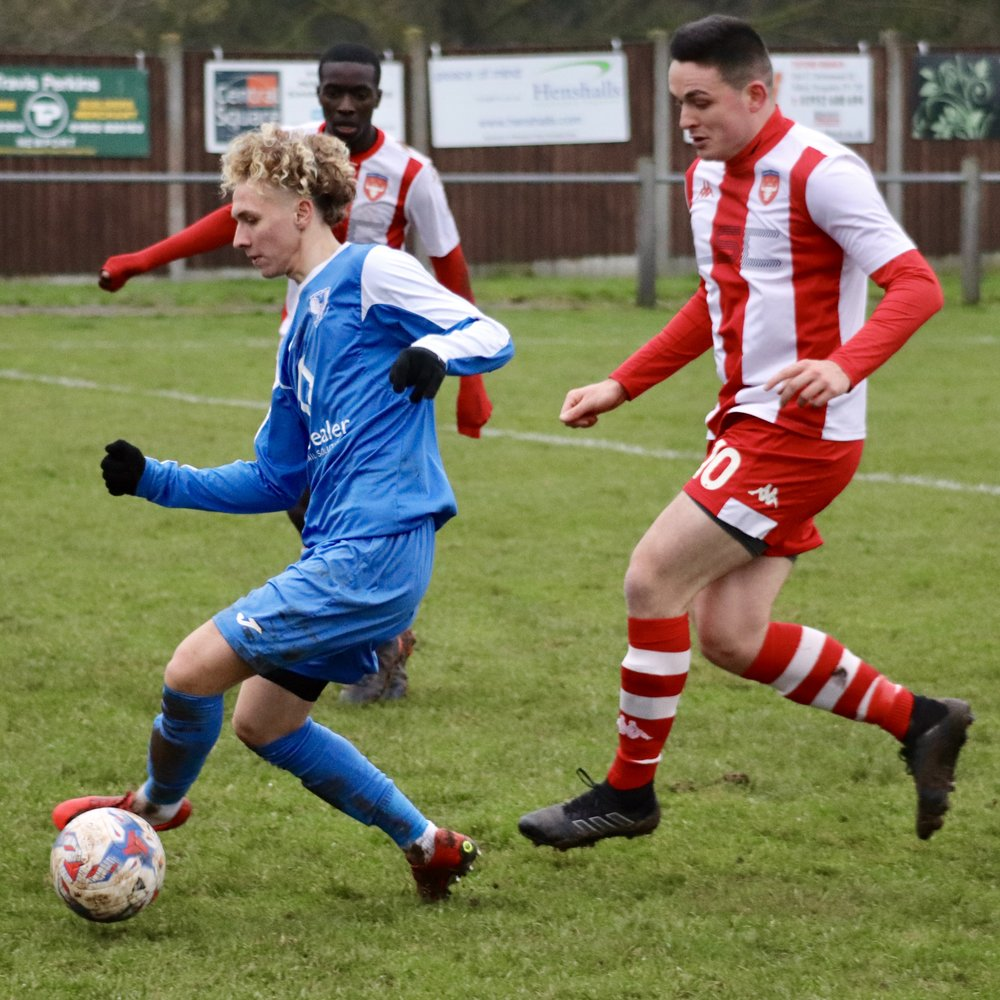 Connor Naughton keeps tabs on Eccleshall's tricky no11