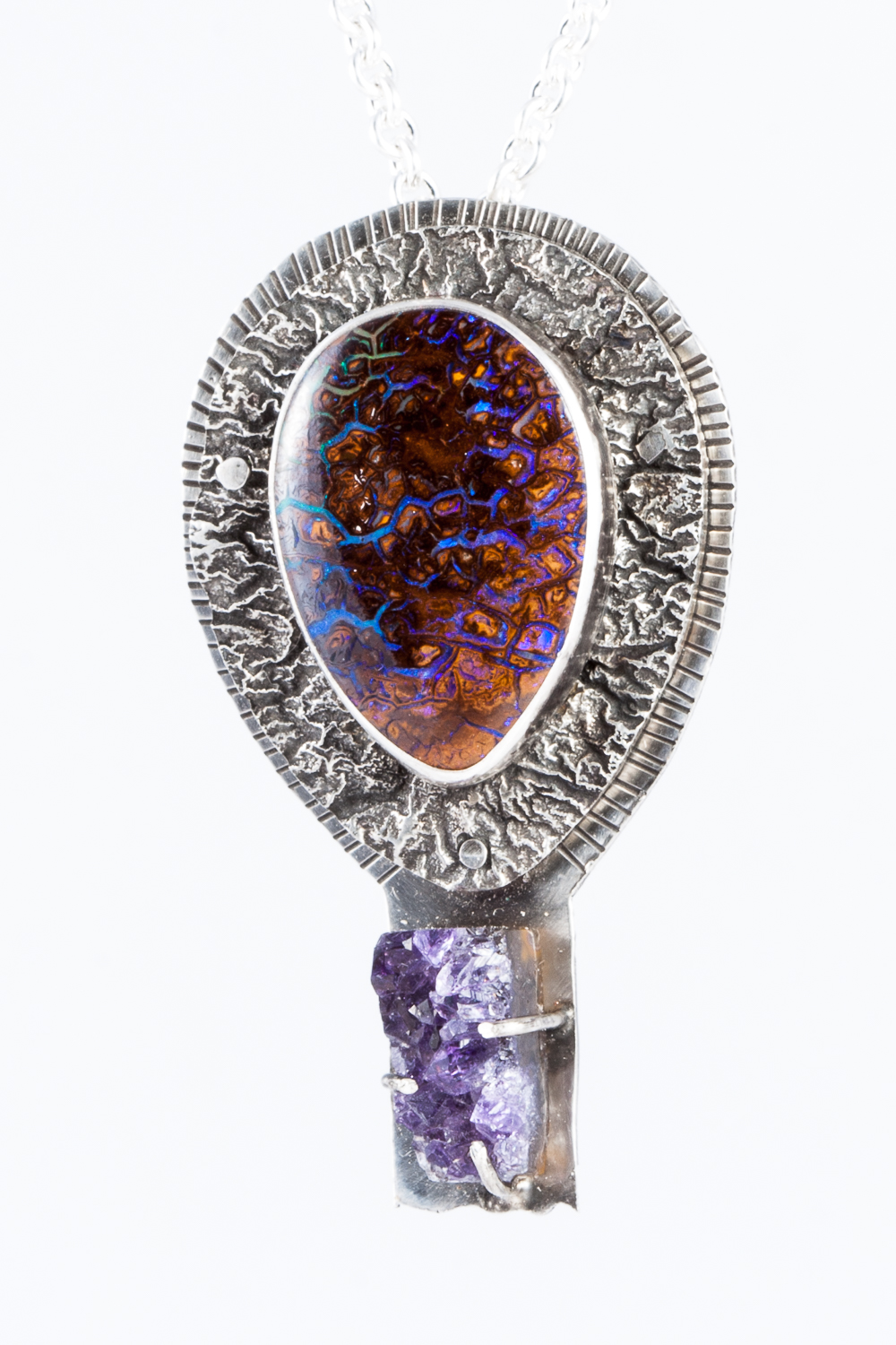 Opal and Amethyst Pendant