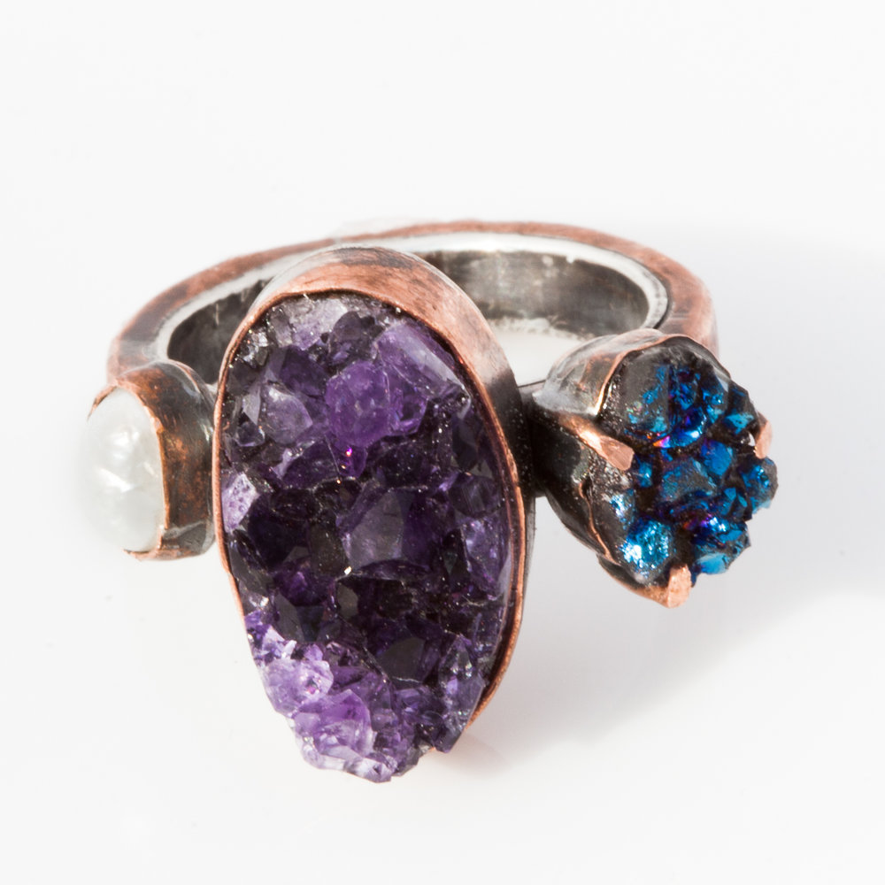 Amethyst Engagement Ring