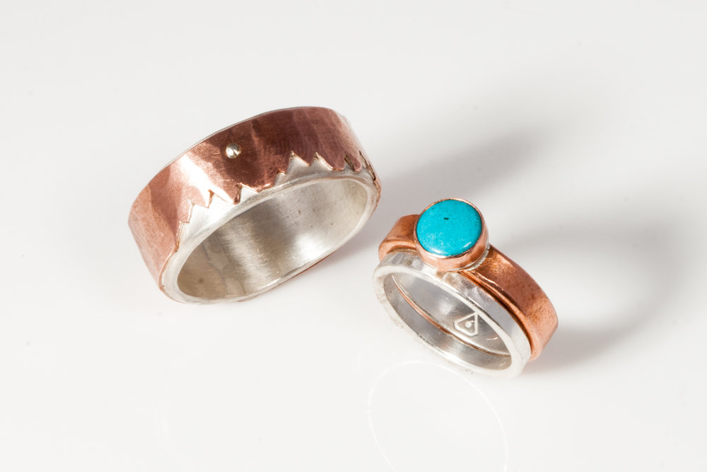 Copper Wedding Set