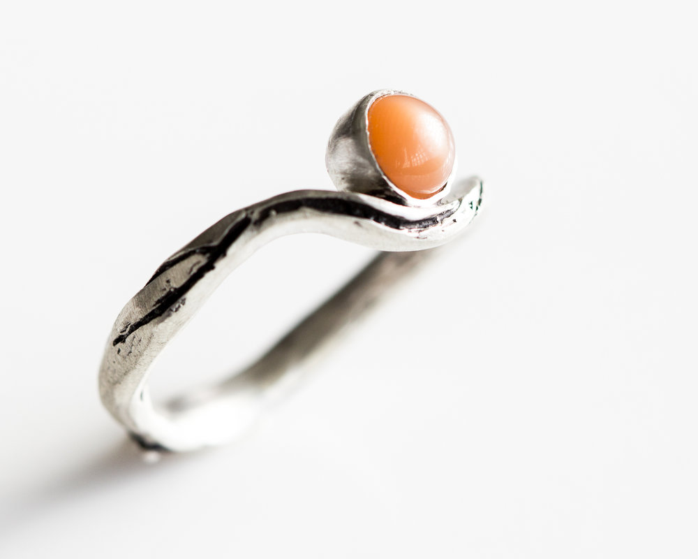 Moonstone River Ring