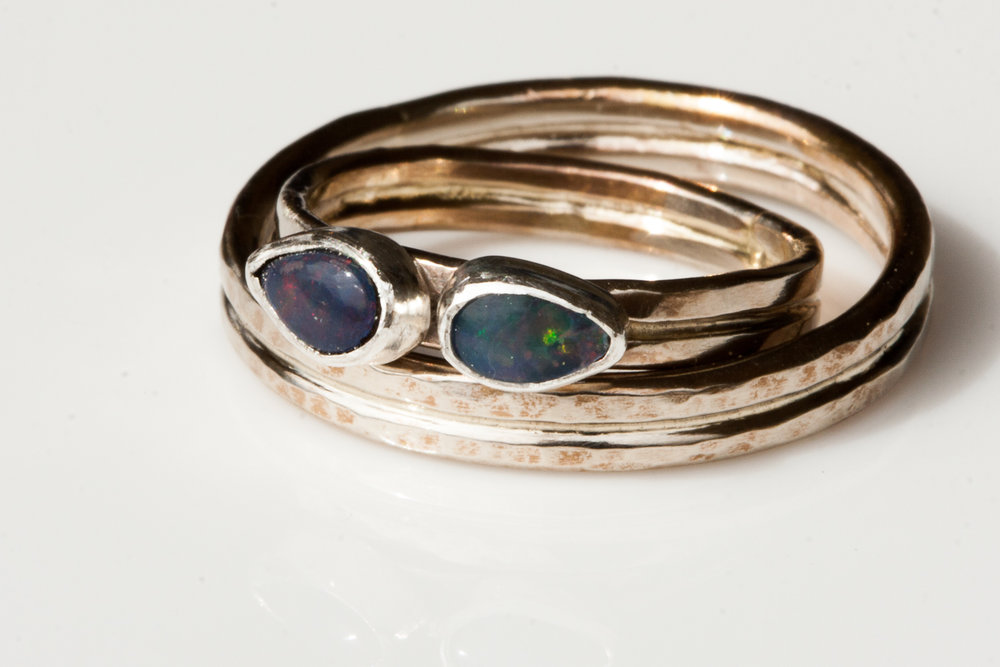 White gold and Opal