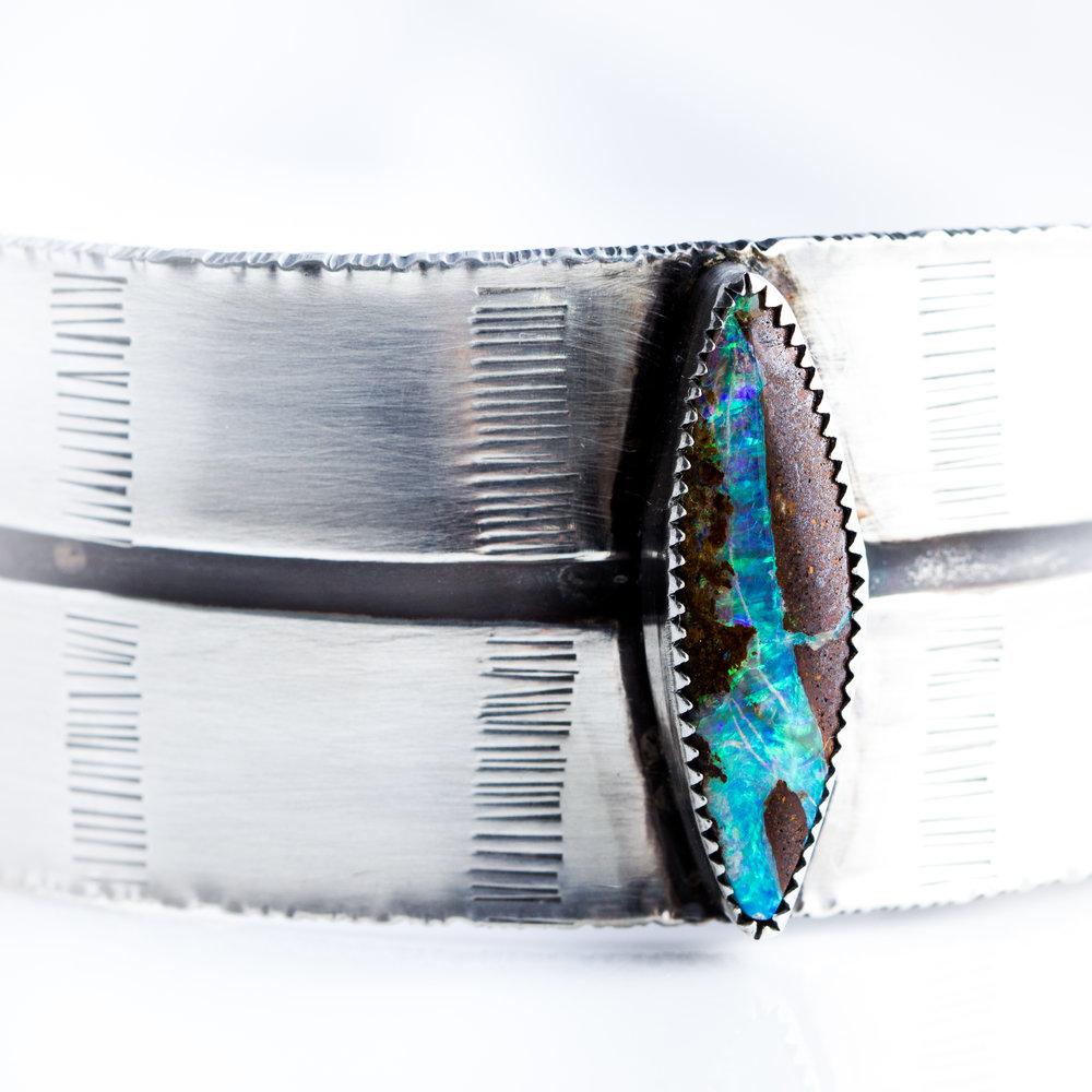 Opal Feather Cuff
