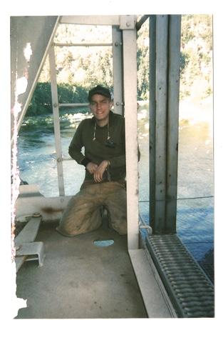 On a train somewhere in Oregon, ca. 2004