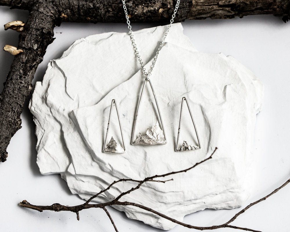 Summit Earrings and Necklace