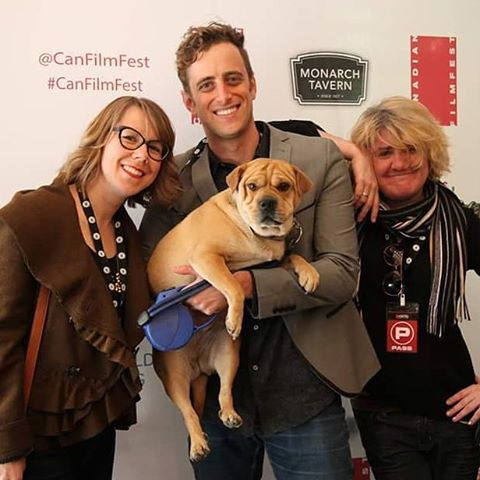 Schnitzel The Dog's red carpet debut. Our feature comedy,  Ben's At Home , went on to win Best Feature Film at The Canadian Film Fest.  Now on iTunes!! @CanFilmFest @BensAtHome #canadianfilms #canfilmfest #indiefilm #filmmaking #film #love #movies #makingmovies #dogsofinstagram #dog #dogs #redcarpet #toronto #the6