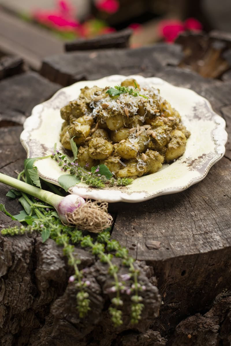 Forest Feast's Pesto Gnocchi