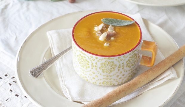 Roasted Butternut Squash Soup with Sausage