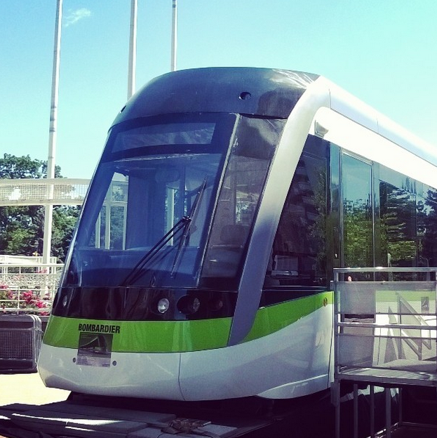 A LRV mockup is currently outside of Brampton's City Hall. ( From myself )