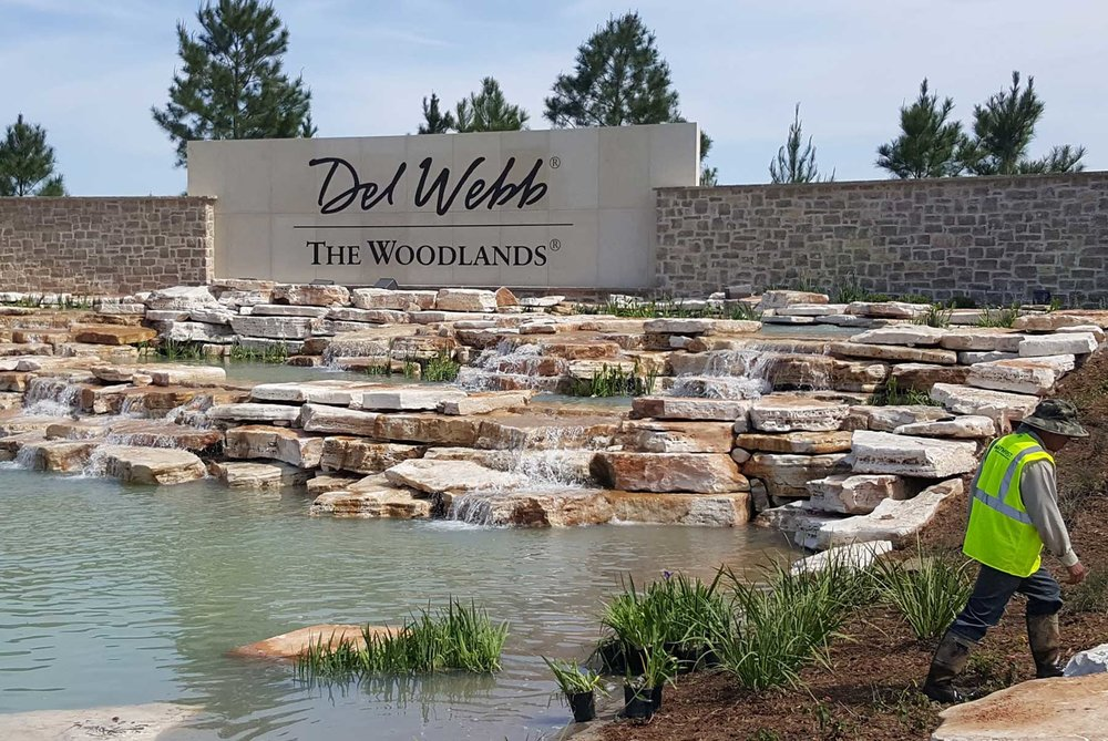 Monument Sign and Waterscaping