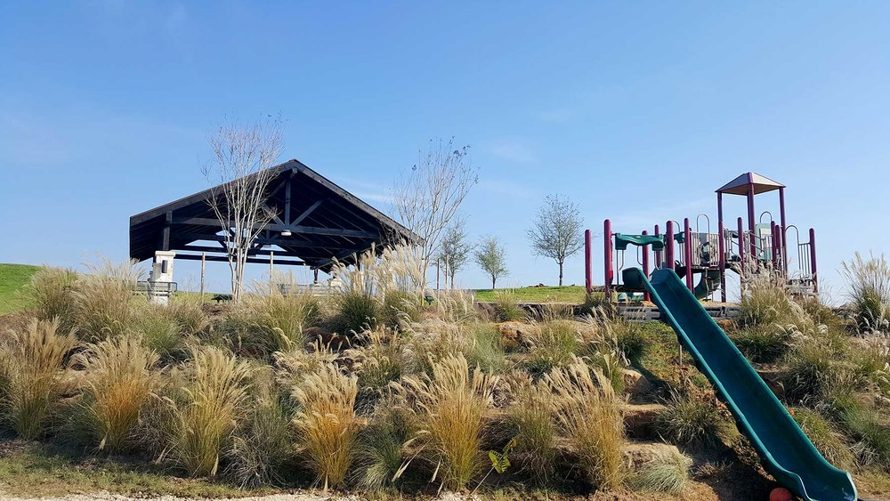 Landscaping, Tree Installation, and Playground Equipment