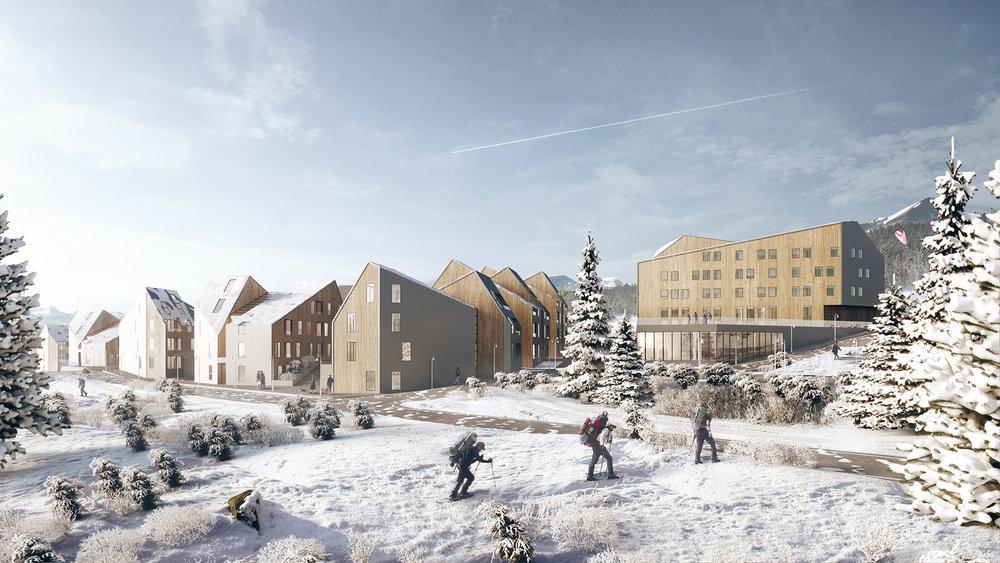 Zlatibor Winter Resort . Visual project EDiT