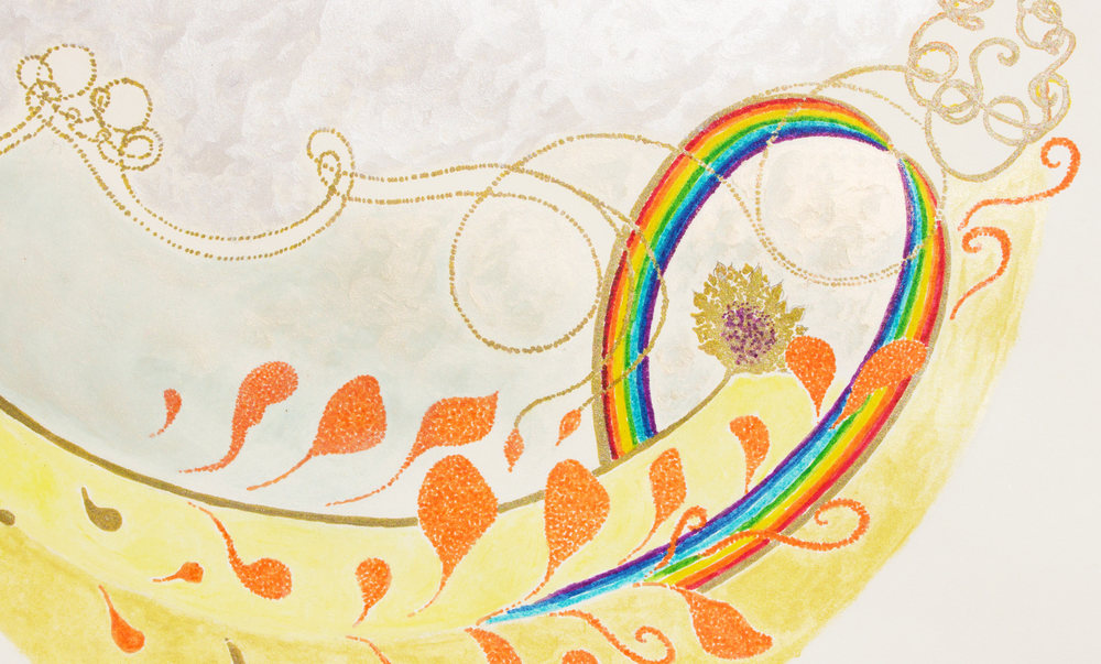 Detail of drawing 'Rainbow Body Bowl'