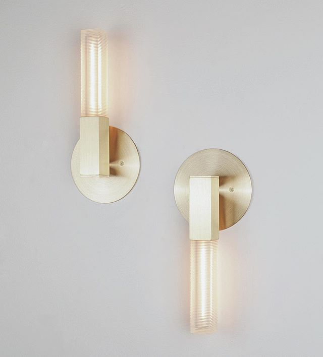 This pair of brushed brass Post Sconces are on their way to another great project by Coombs Design.
