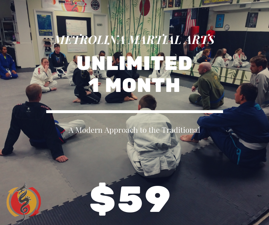 ONE MONTH UNLIMITED - Try out a month for only $59!*Available to New Students Only, after first month normal pricing resumes. Limit 1 month per participant