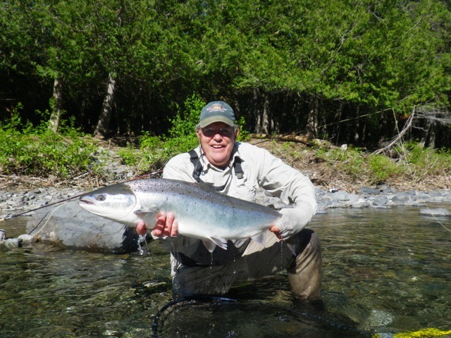 Bill More land his first Grand Cascapedia salmon, he' coming back next year!