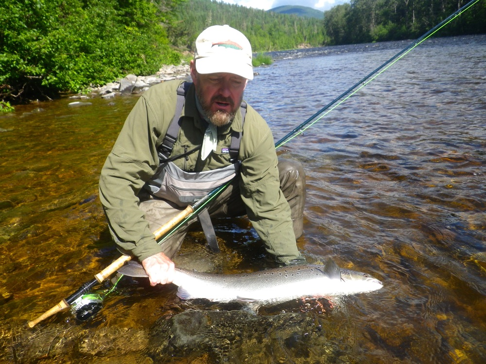 Jeff Bright with his first salmon of 2015, it wasn't his last! Nice one Jeff.