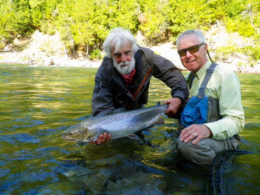 Perry Munro is a professional guide from Nova Scotia and no stranger to the Atlantic Salmon, didn't take Perry too long to get it done!