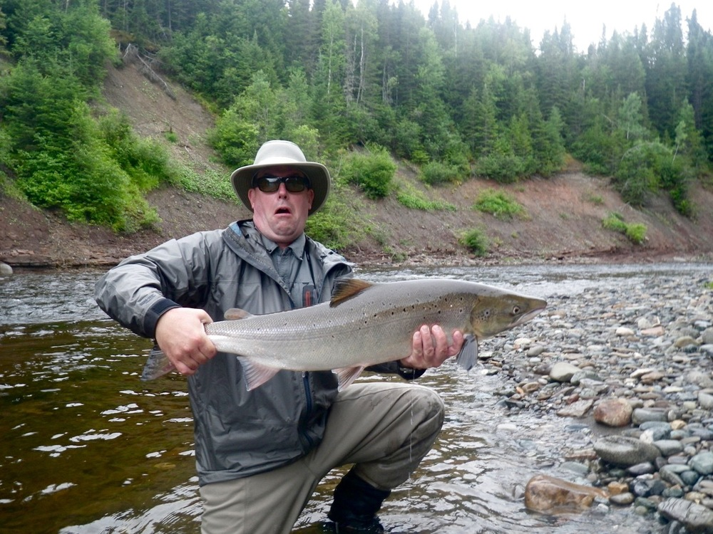 Francois Bolduc know how to get it done on the Grand Cascapedia, nice salmon Francois!