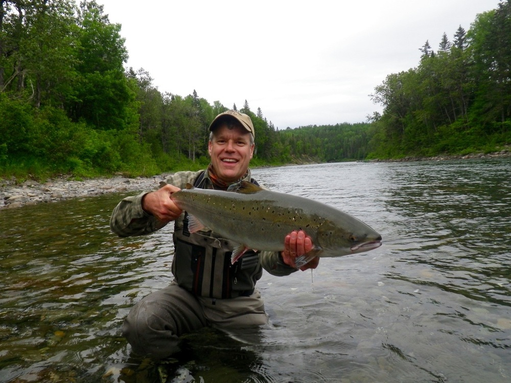 Brian Townsend cam all the way from Texas to escape the heat, but most of all to catch salmon!
