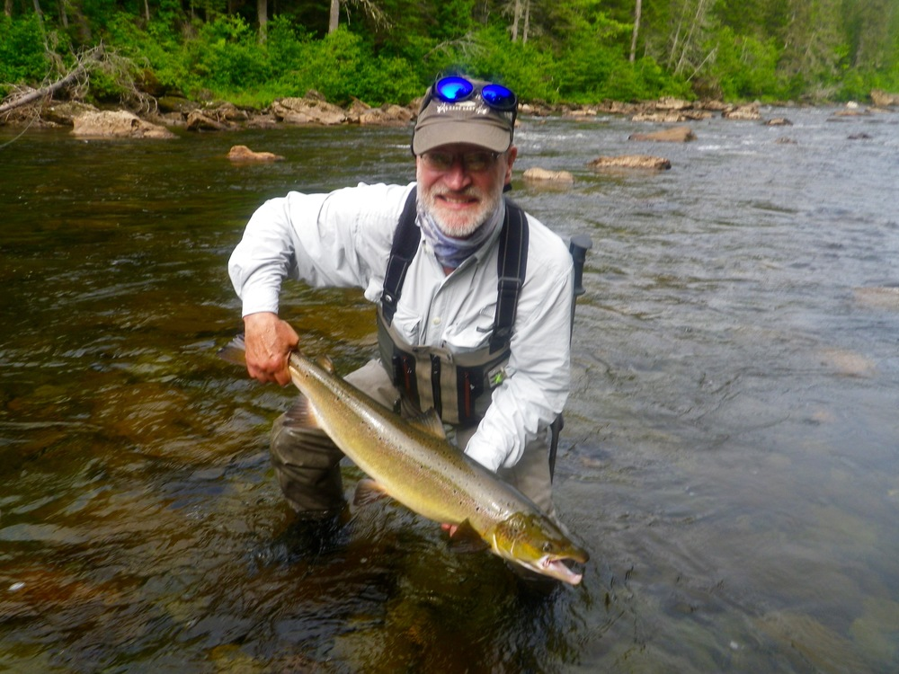 Bill Kalm with his first Grand Cascapedia salmon, Congratulations Bill!