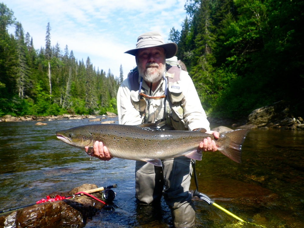David Longnecker took this fine salmon on the Gand Cascapedia , nice one David!