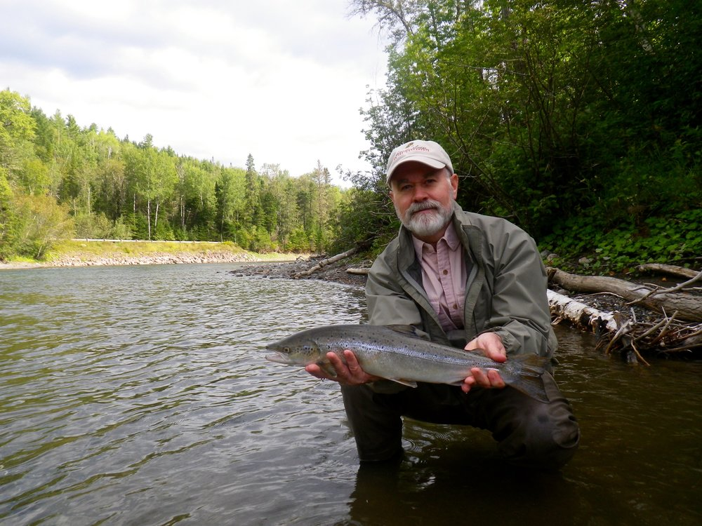 Don Simmons with his first Atlantic salmon, Congratulations Don!
