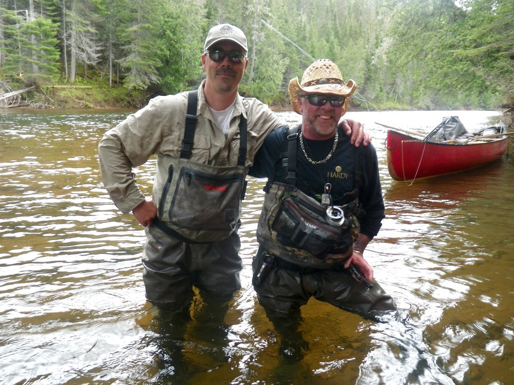 Salmon Lodge guides Larry Dee (right) and Jean Marc Clermont, these boys know where to find salmon!