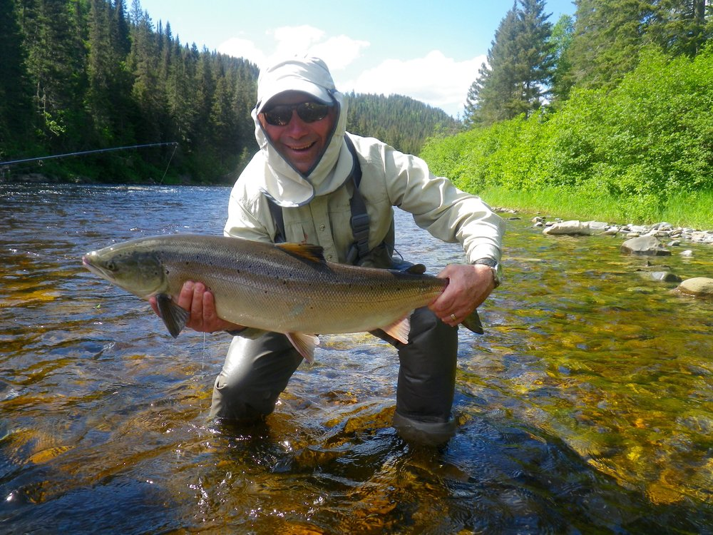 Gerry Savoie with his first fish of the season, Congratulations Gerry, see you next year!
