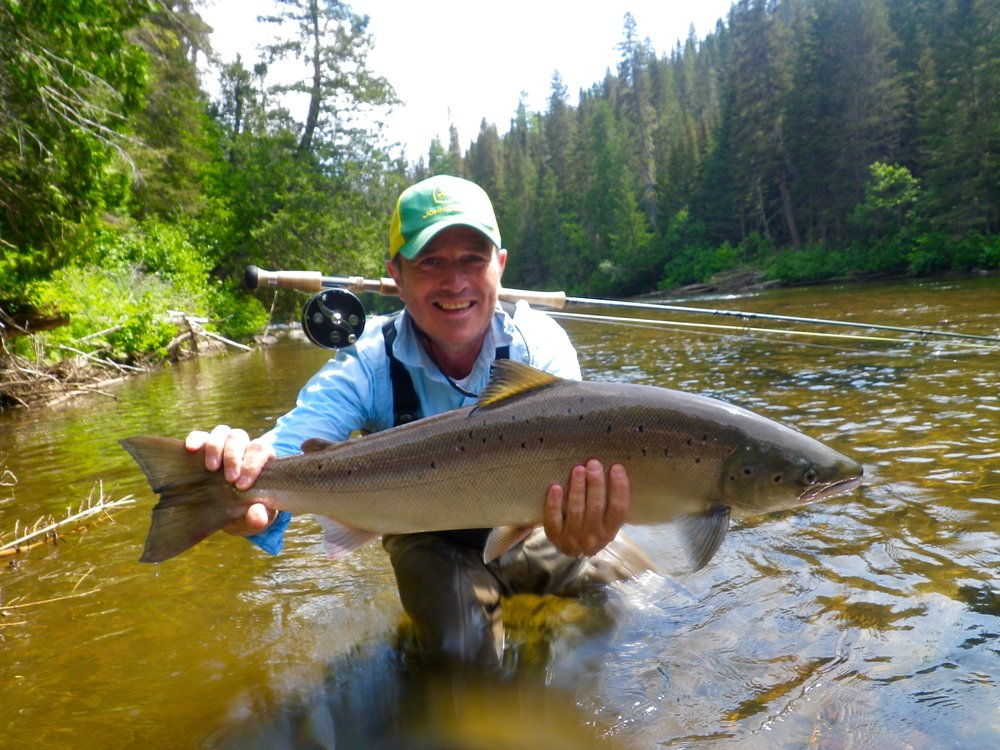Claude Lachance has been coning to Salmon Lodge for many years, he really know how to catch them!, nice one Claude