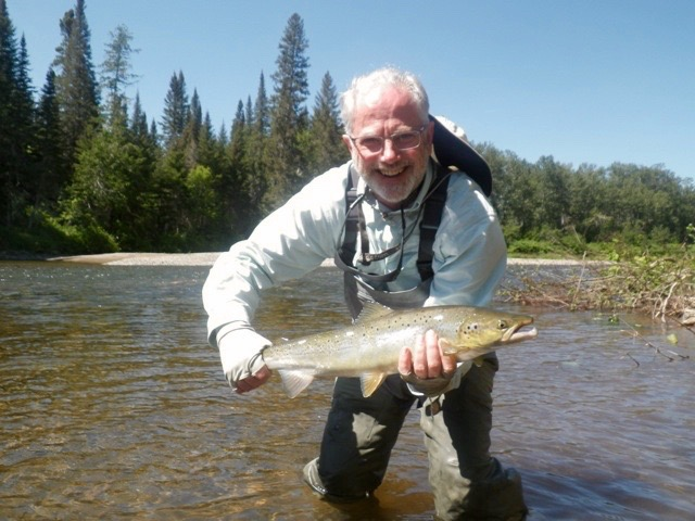 Nick Edwards is no stranger to Salmon Lodge of salmon fishing, nice one Nick!