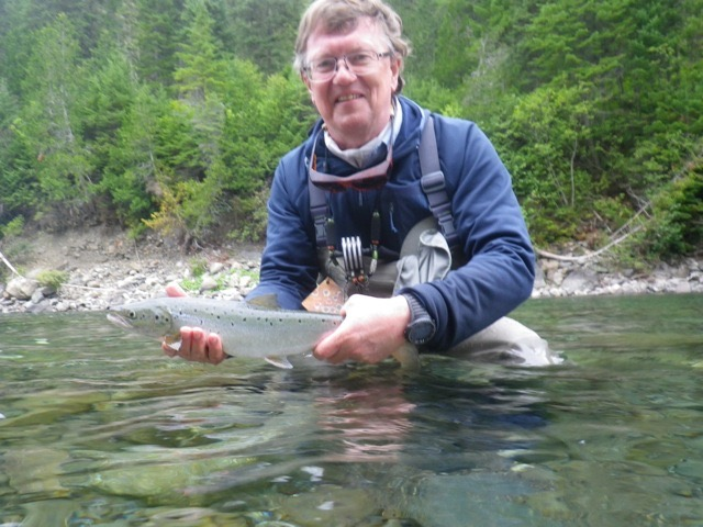 Francisco Viegener with a nice grilse  from the Bonaventure, well done Francisco!