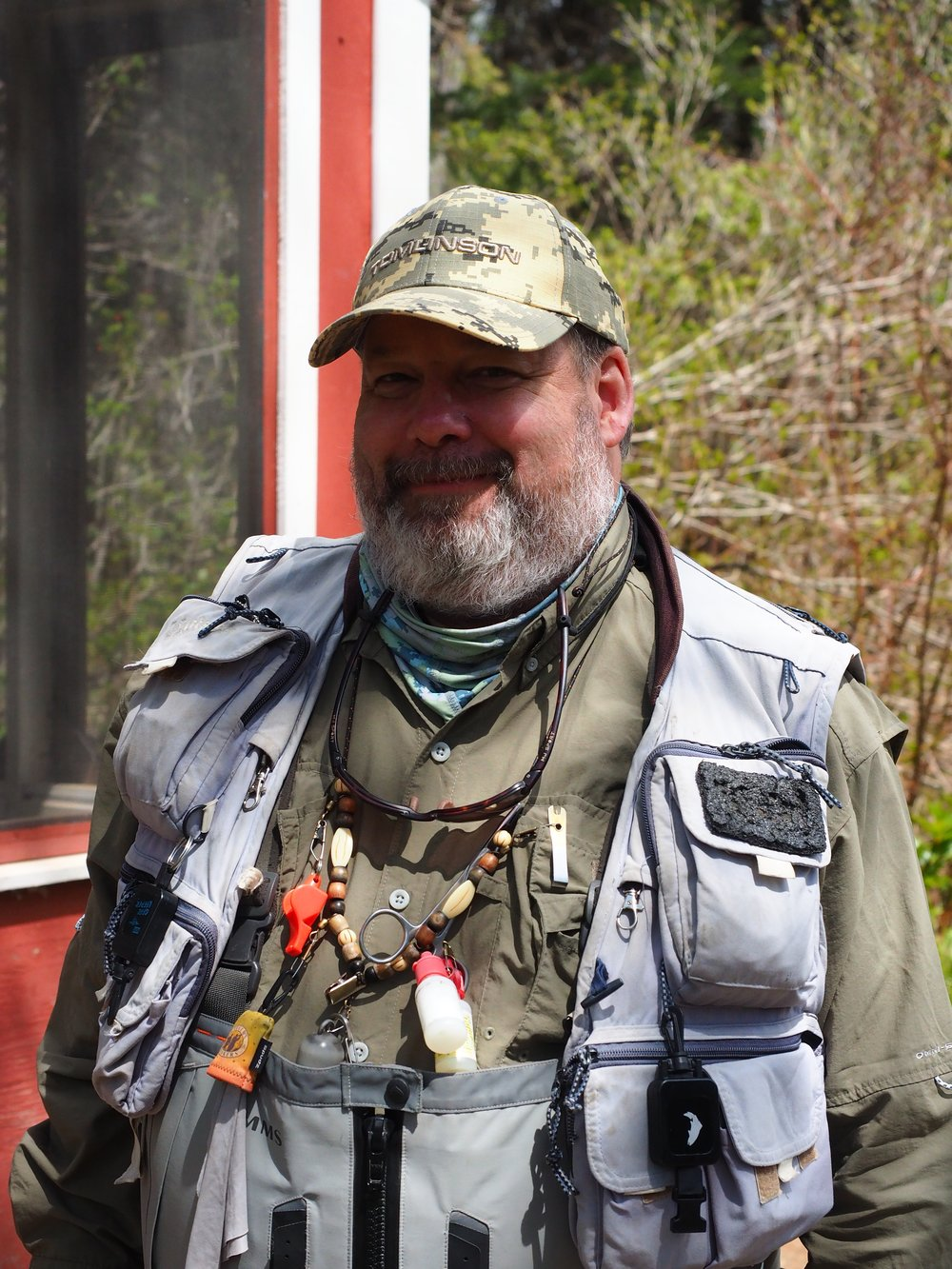 Our good friend Dan Greenberg ready for another season, may the salmon Gods smile upon you!
