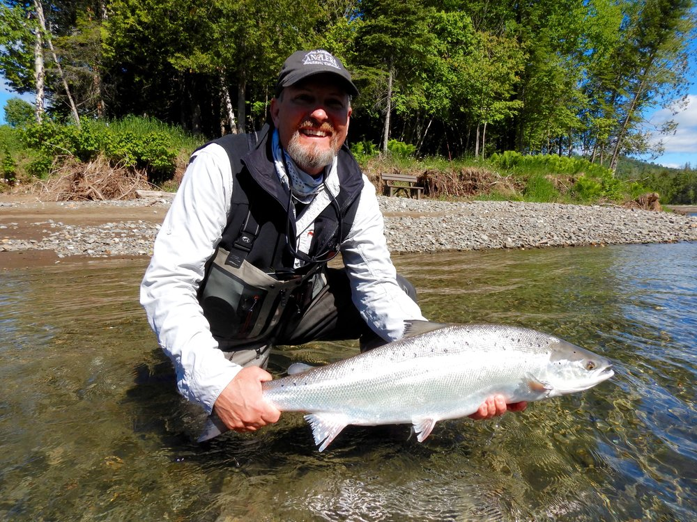 This was Greg Hult's first trip to Salmon Lodge, he had a great time and landed a few good fish. Well done Greg.
