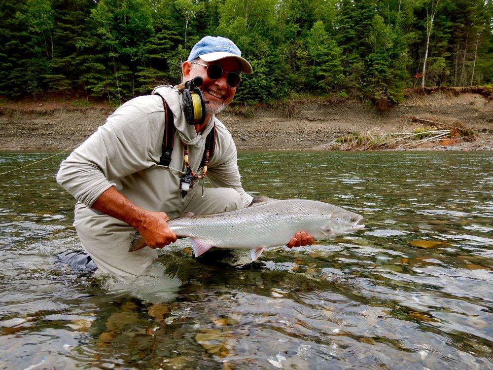 Michael Peluso landed this nice salmon on the Bonaventure , nice one Michael, congratulations,