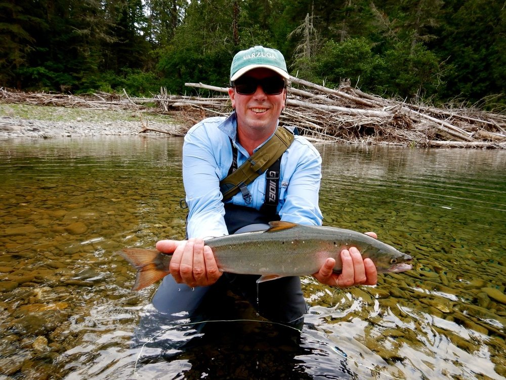 Harold T'Kent landed this nice grilse on his first day on the river, congratulations Harold.