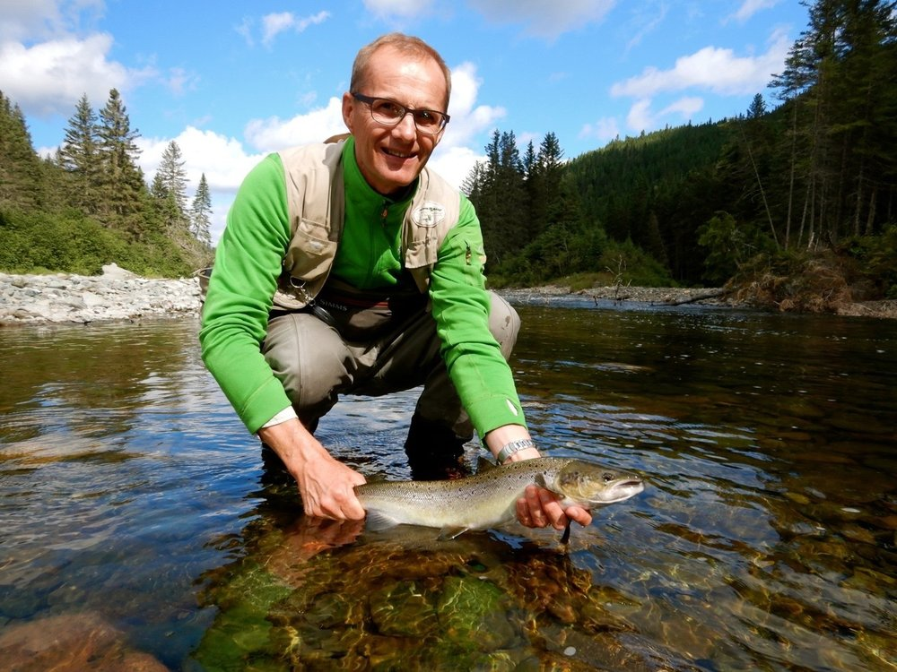 This was Nico Bogaert's first trip to Canada and his first salmon, nicel one Nico, see you in 2019